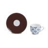 Сет филџани за кафе blue & black, 12 Пар