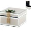 Кутија за накит – стаклена лилава 13x12x10cm