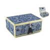 Кутија за накит Lace Efect Blue, 15x15x8cm