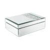 Кутија за накит ефект огледало/камчиња 24x18x8cm