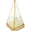 ДЕКОРАТИВЕН ПРЕДМЕТ – стаклена коцка и Gold Edge, 11x11x14cm